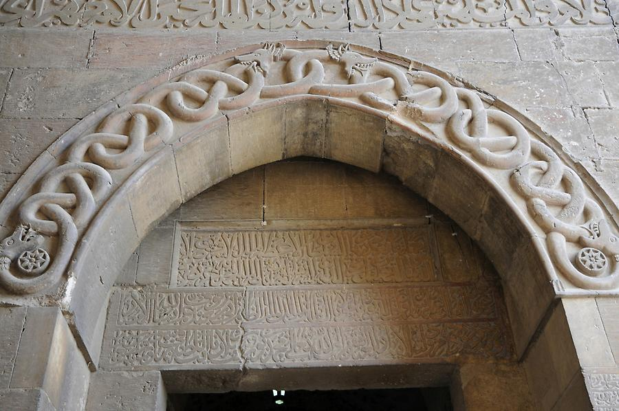 Snake motif at the entrance