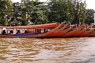Boats along a Bangkok canal