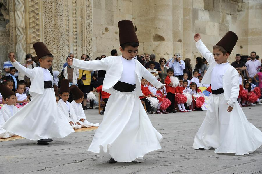 Dervishes at the Children's Festival at Sultanhani