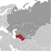 Turkmenistan in Central Asia