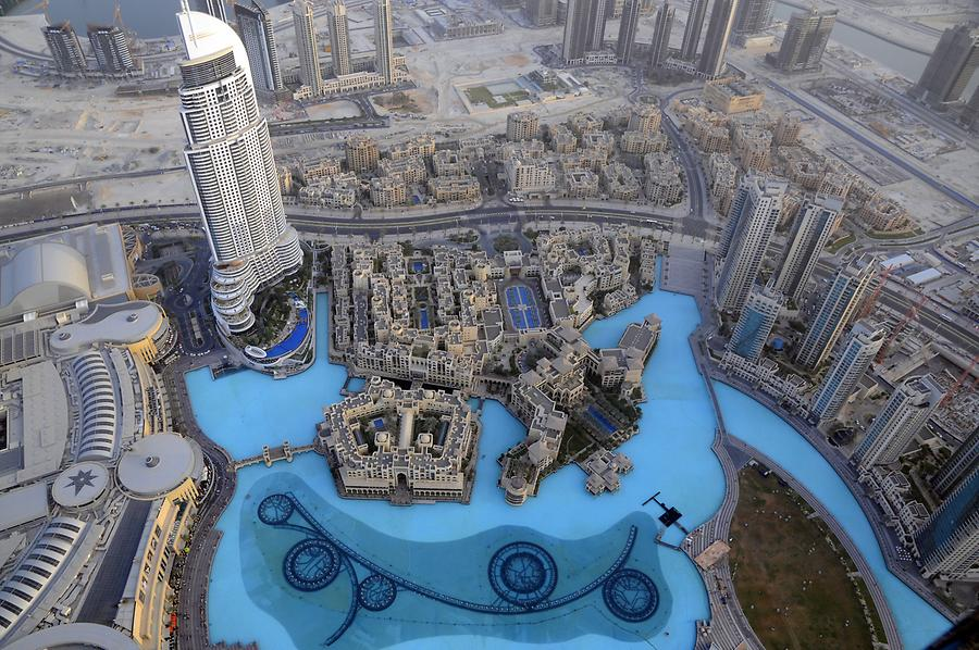 Dubai Fountain Seen from Above