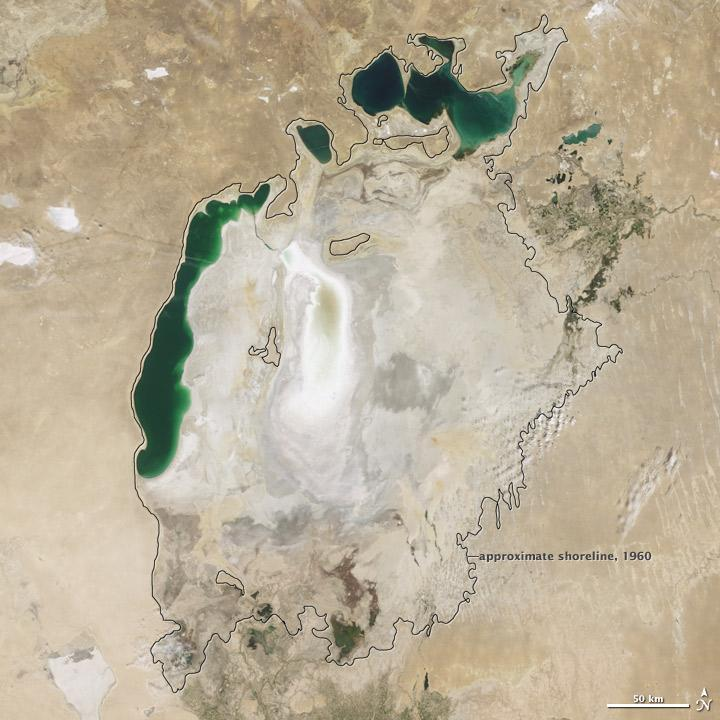 Splitted Aral Sea