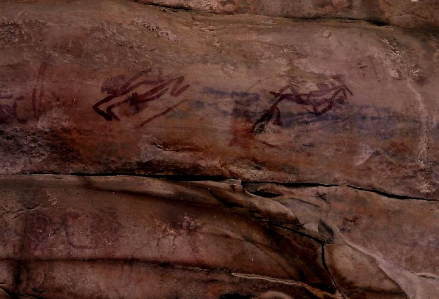Rock paintings near Ubirr