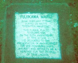 Plaque in Chuuk