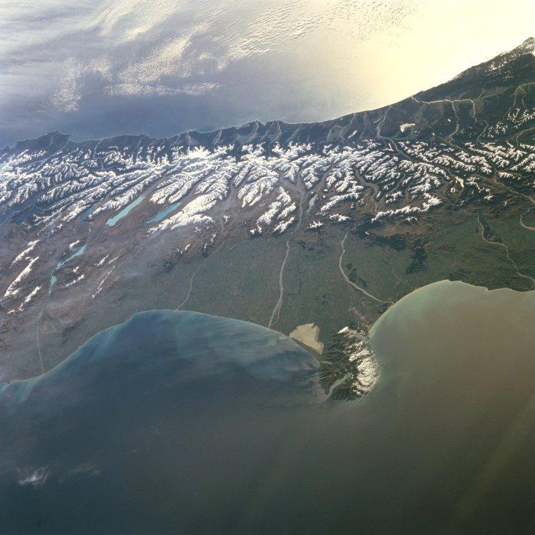 Southern alps from satellite