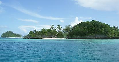 Palau Rock Island