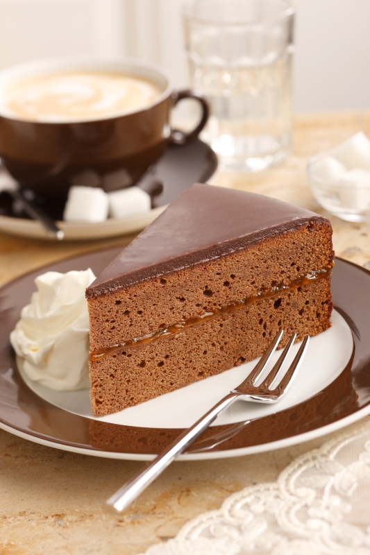 'Sachertorte' one of the most famous cakes of Austria