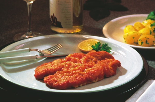 'Wiener Schnitzel', one of the most famous dish of Austria
