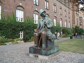 Statue of author, Copenhagen