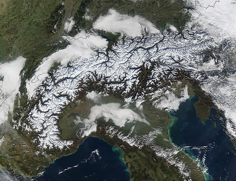 Alps march across southern Europe