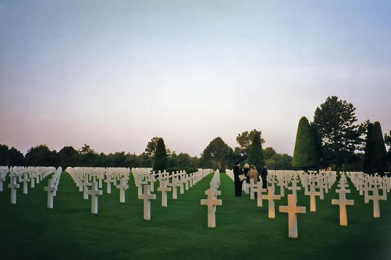 Rows of crosses, Normandy