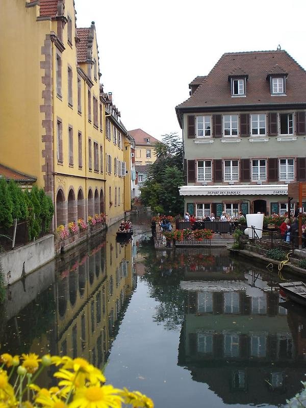 Buildings along a canal, Colmar