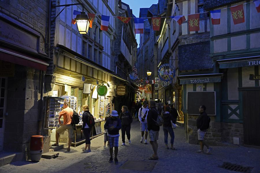 Mont St-Michel - Grand Rue at Night