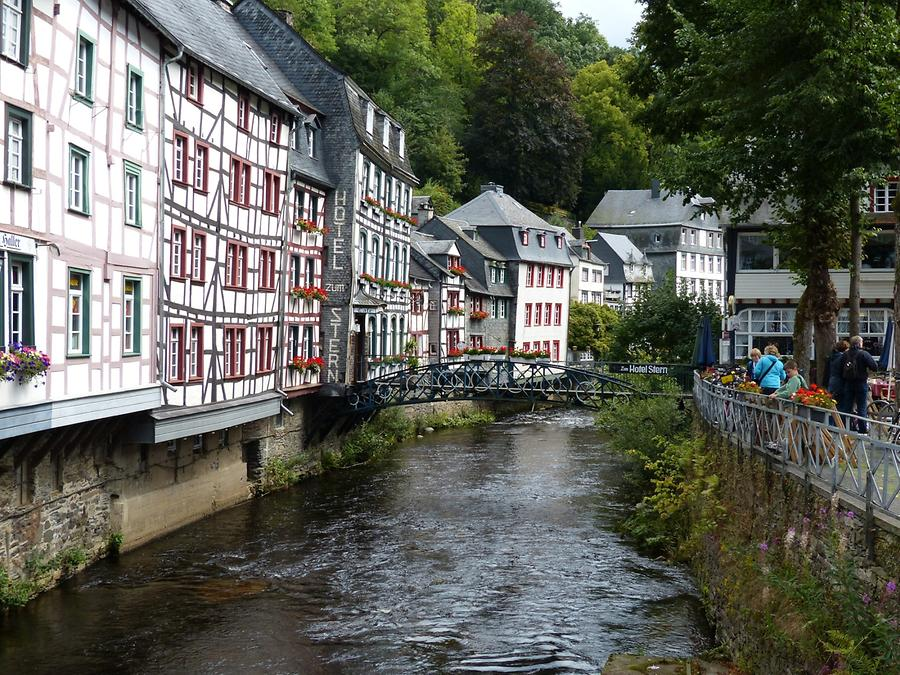 Monschau - River Rur and Timber-framed Houses