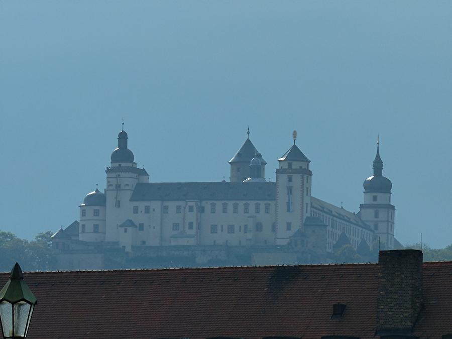 Würzburg - A strom is brewing over Fortress Marienberg