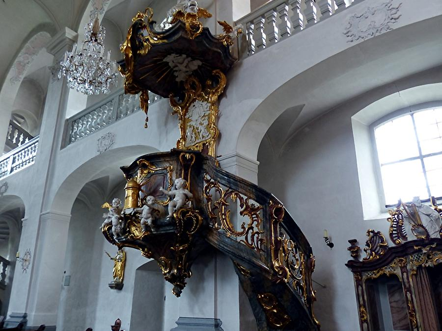 Maria Limbach - Pilgrimage church with rococo pulpit
