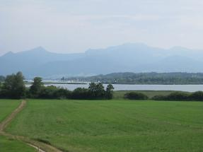 Chiemsee vom Seecafe Toni - Hochstätt-Rimsting (1)