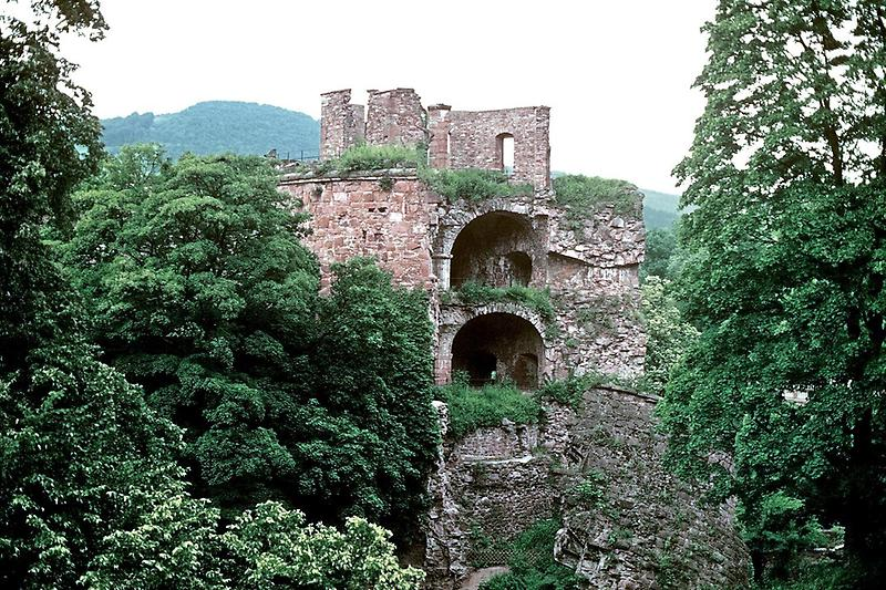 Ruined section, Heidelberg castle