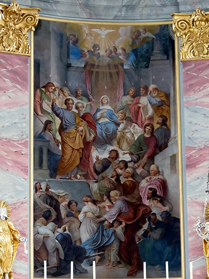 Heidelberg - Church of the Jesuits; Altarpiece with Pentecost
