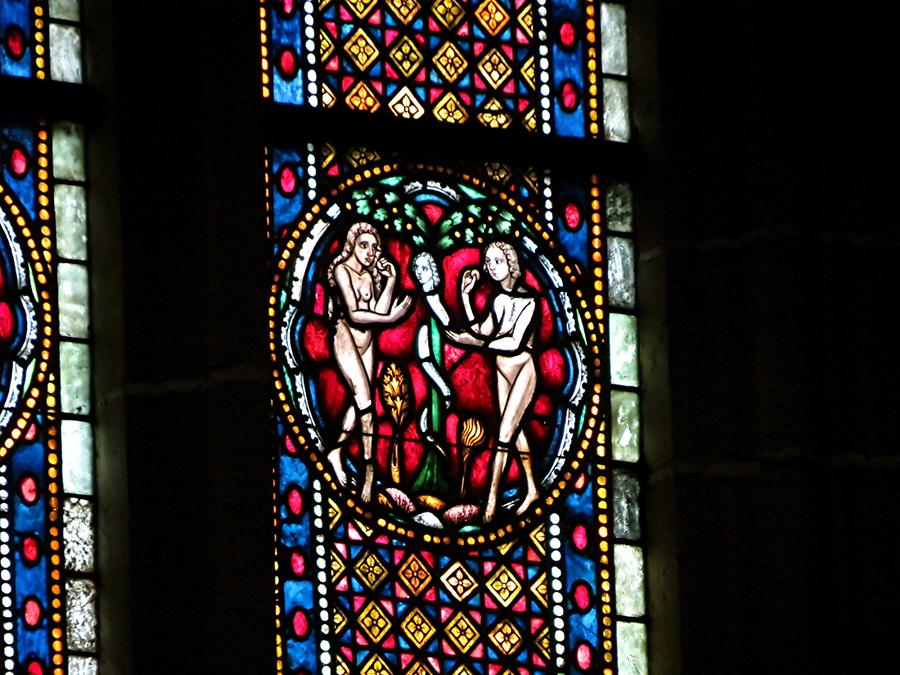 Wimpfen im Tale - Stained-Glass Window, the Fall of Man