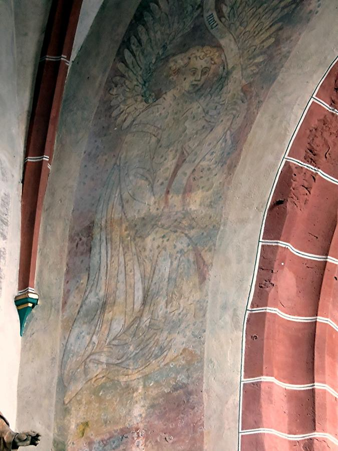 Hirschhorn - Parish Church; Fresco 'Annunciation'
