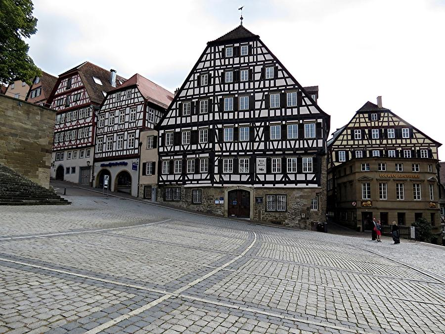 Schwäbisch Hall - Market Square with Half-timbered Houses, 16th Century