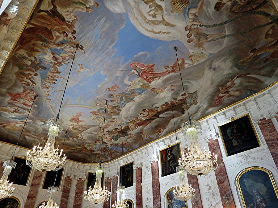 Mannheim - Palace; Ceiling Painting