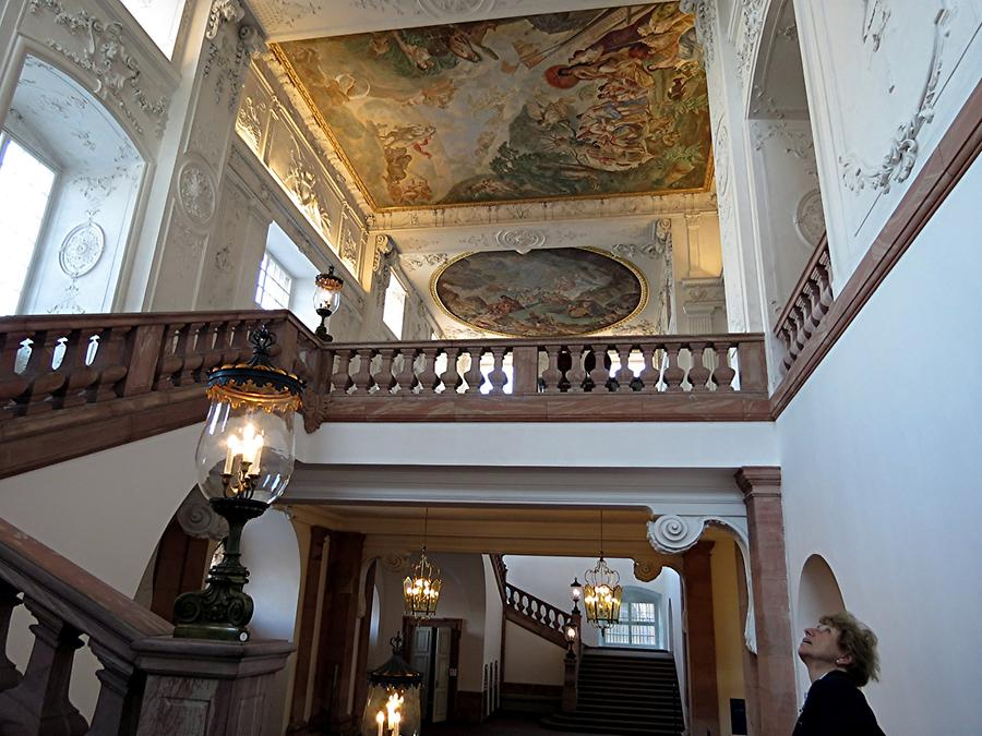 Mannheim - Palace; Imposing Staircase