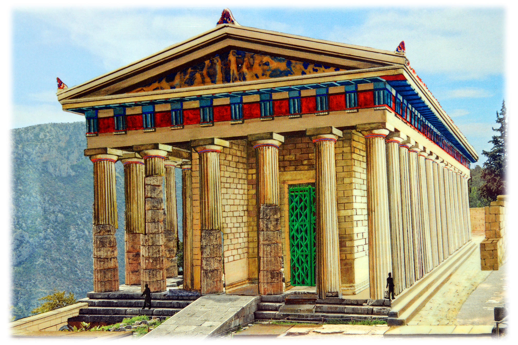 Apollo Temple Delphi Reconstruction Delphi Geography
