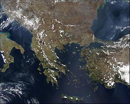 Satellite image, Balkan