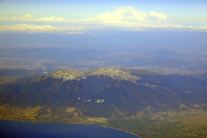 Mount Olympus from above