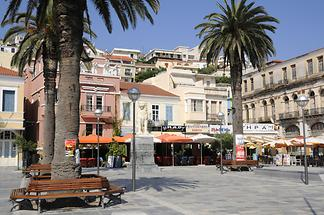 Platia Pythagoras Samos (town)
