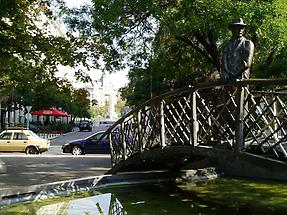 A monument in Budapest