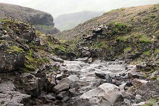 Volcanic dike in Thingvellir National Park
