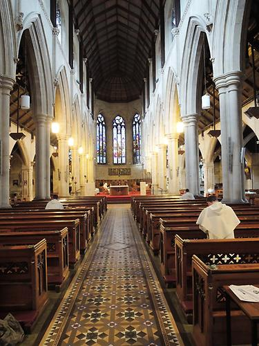 Saint Saviour`s, view from the inside