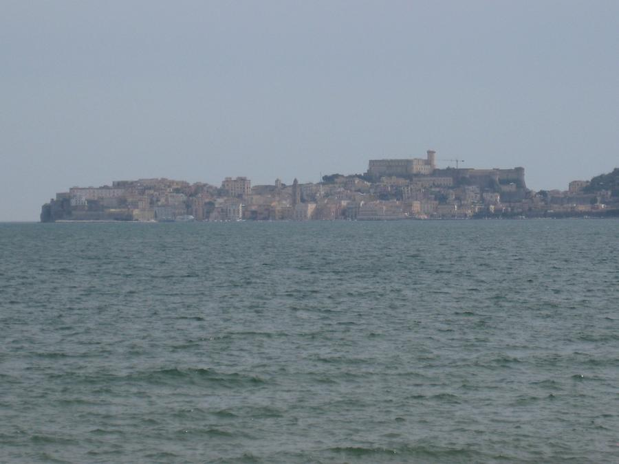 View of the seaside town of Gaeta