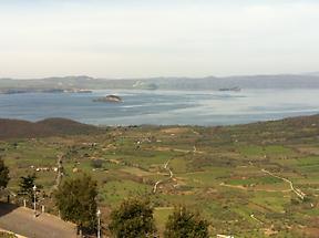 Bolsena Lake seen from Montefiascone