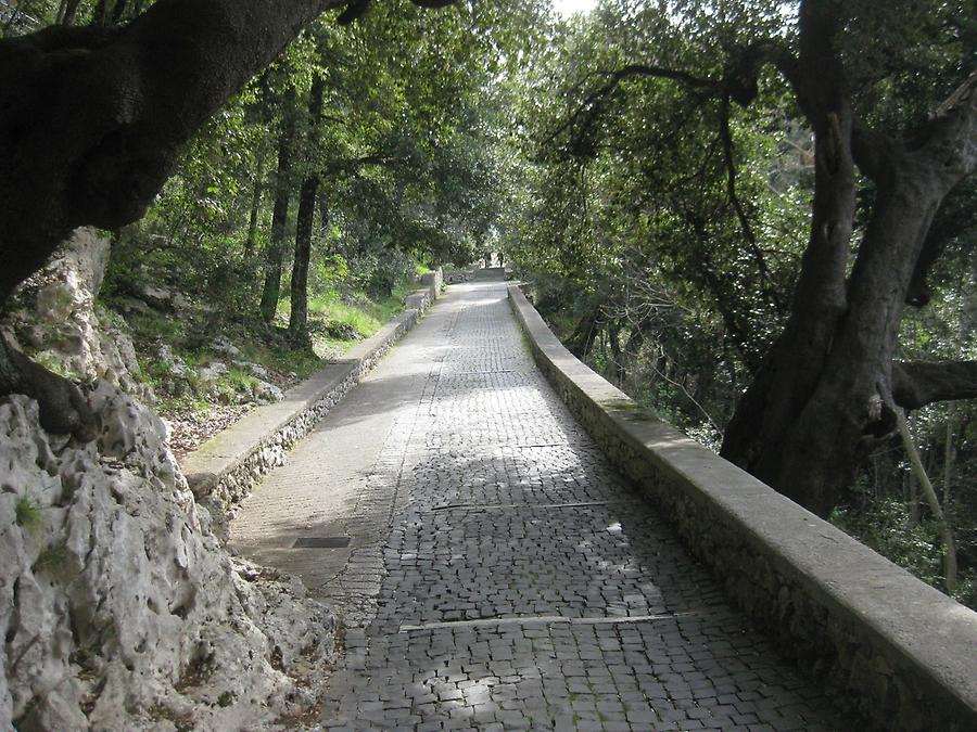 Subiaco - St. Benedict's Abbey, Cobbled Path to the Outer Gate