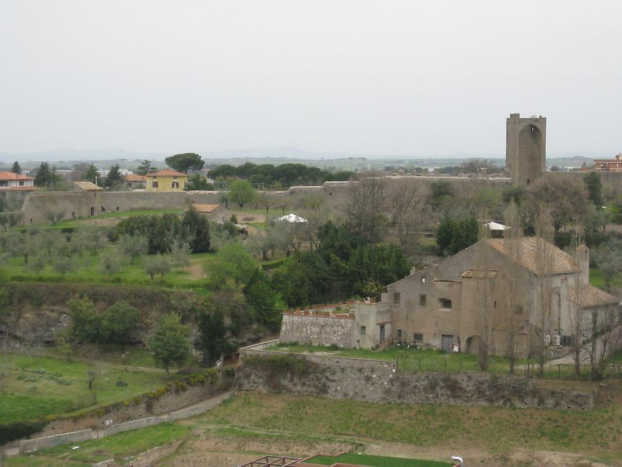 Viterbo - City Walls seen from the Belvedere of the Palazzo dei Papi