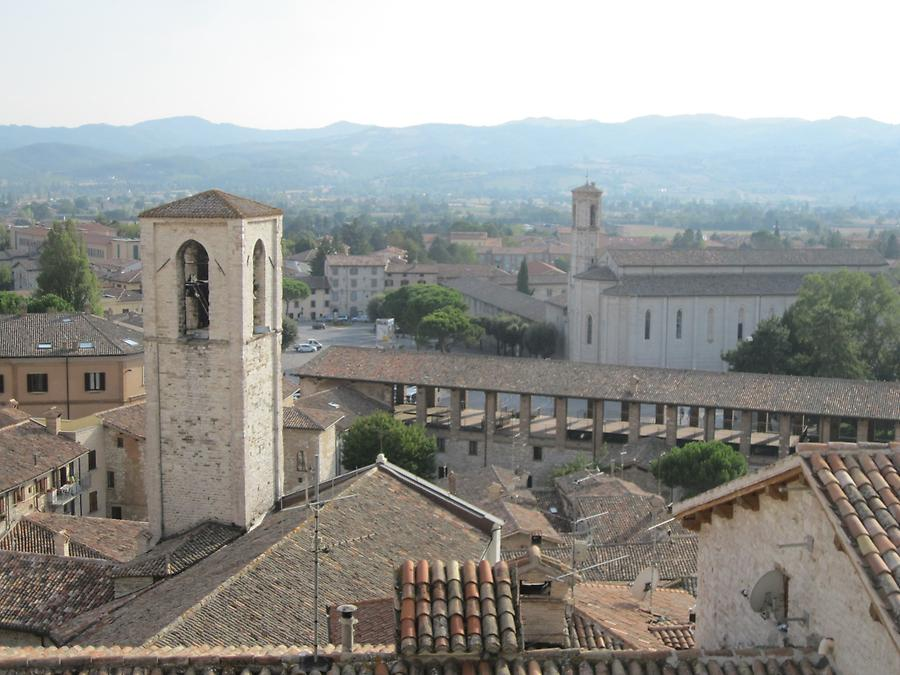 Gubbio - View from Piazza Grande onto San Giovanni and San Francesco