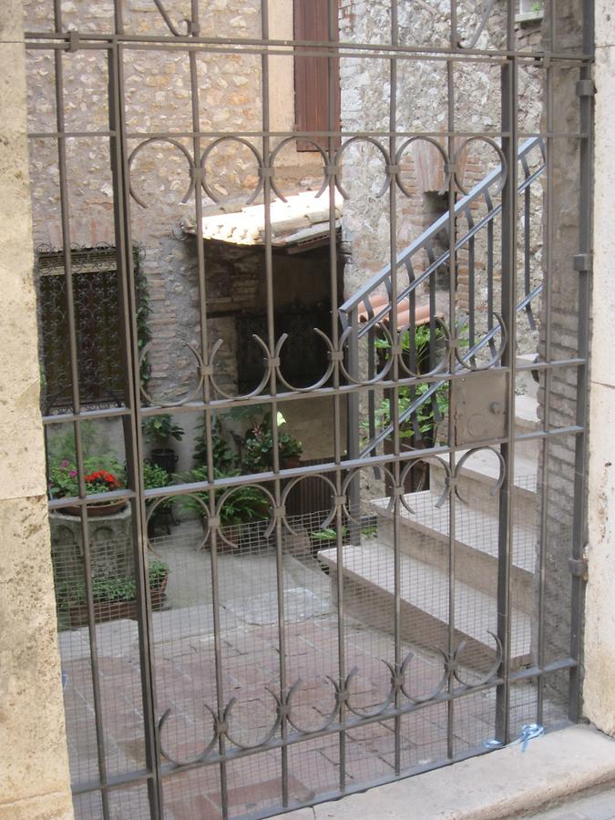paled gate to an old house in Narni