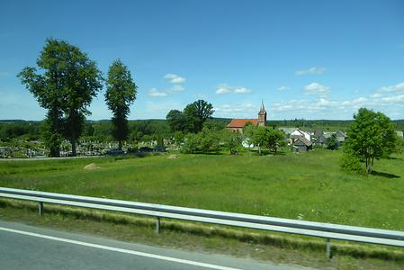 Back on the mainland: a typical village in Lithuania N of Kaunas, i.e . direction Latvia., Photo: Hermann Maurer , 2016