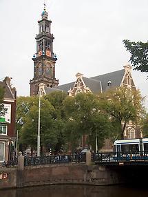 The spire of the Westerkerk
