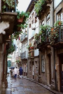 Narrow streets in Madeira