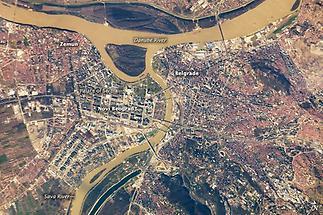 Sattelite Image of Belgrade