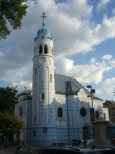 Bratislava, the Blue Church