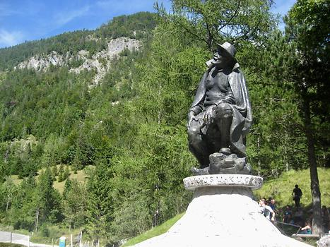 Dr. Julius Kugy monument in the Triglav National Park, Julian Alps, Trenta, Slovenia. 2016. Photo: Clara Schultes