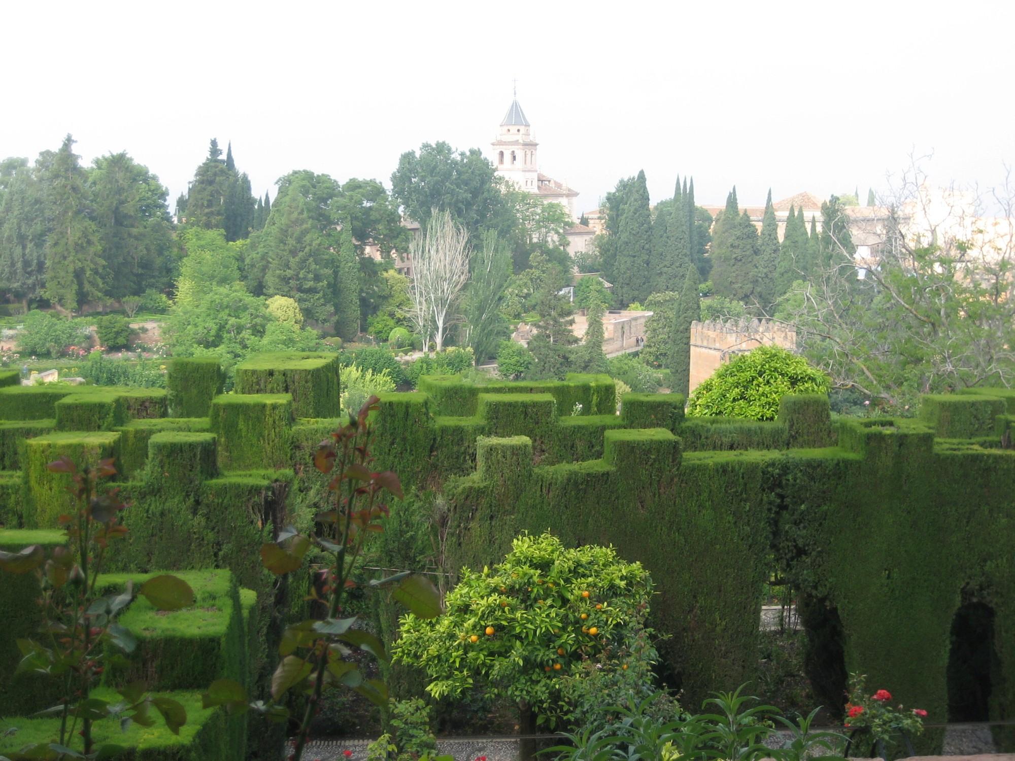 Granada palacio de generalife jardin 8 andalusia for Jardin de gomerez granada