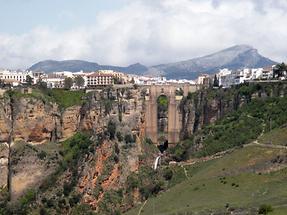 Panoramic view of Ronda and Tajo Canyon