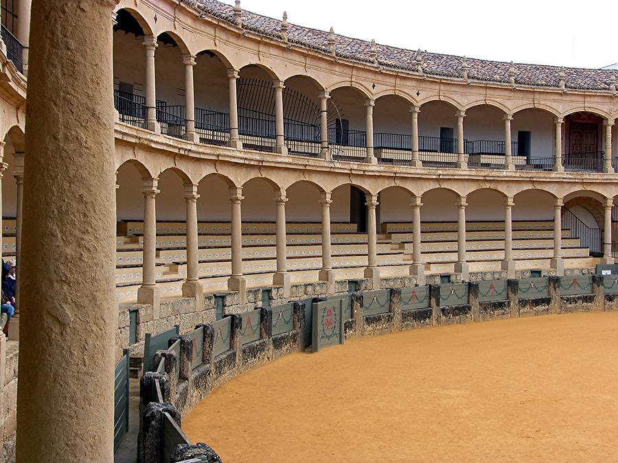 Ronda - Other view of this oldest bullfight arena Spains
